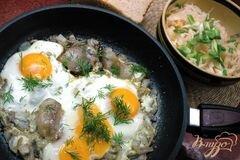 «Яичница с луком и салом» - приготовления блюда - шаг 4