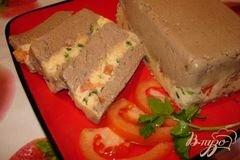 «Полосатый печеночный паштет из куриной (индющиной) печени с сыром» - приготовления блюда - шаг 6