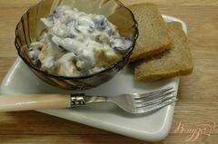 «Салат с сельдью и виноградом» - приготовления блюда - шаг 5