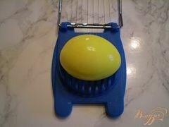 «Канапе с двумя видами сыра и маринованными яйцами» - приготовления блюда - шаг 6