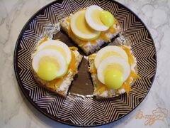 «Канапе с двумя видами сыра и маринованными яйцами» - приготовления блюда - шаг 7