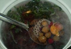 «Компот фруктовый с мелиссой и мятой» - приготовления блюда - шаг 2