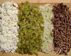 «Салат с печенью и фасолью» - приготовления блюда - шаг 1
