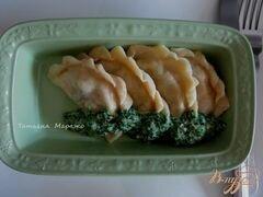 «Вареники с картофелем и маслинами» - приготовления блюда - шаг 9