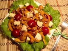 «Салат из тыквы с моцареллой» - приготовления блюда - шаг 3
