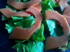 «Салат с гусиными желудочками конфи и папайей» - приготовления блюда - шаг 3