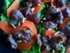 «Салат с гусиными желудочками конфи и папайей» - приготовления блюда - шаг 4