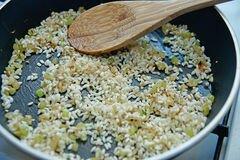 «Ризотто с грушей и сыром горгонзолой» - приготовления блюда - шаг 1