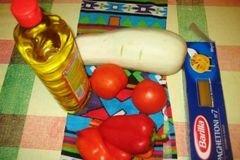 «Паста с кабачками,перцем, помидорами» - приготовления блюда - шаг 1