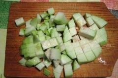 «Паста с кабачками,перцем, помидорами» - приготовления блюда - шаг 2