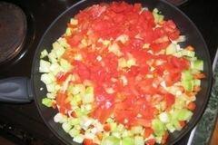 «Паста с кабачками,перцем, помидорами» - приготовления блюда - шаг 5
