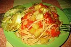 «Паста с кабачками,перцем, помидорами» - приготовления блюда - шаг 7