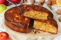 «Медовый пирог с орехами и яблоками» - приготовления блюда - шаг 14