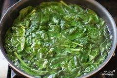 «Шпинат с беконом» - приготовления блюда - шаг 1