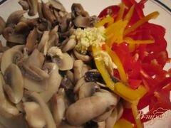 «Грибной салат» - приготовления блюда - шаг 3