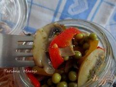 «Грибной салат» - приготовления блюда - шаг 5