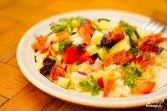 «Салат из кускуса» - приготовления блюда - шаг 4