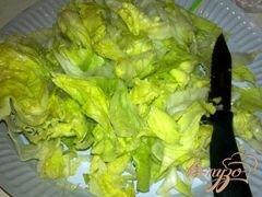 «Салат с айсбергом, помидорами и моцарелой» - приготовления блюда - шаг 1