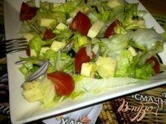«Салат с айсбергом, помидорами и моцарелой» - приготовления блюда - шаг 8