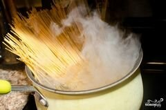 «Пирог со спагетти» - приготовления блюда - шаг 2