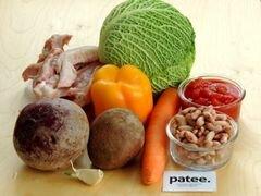 «Красный борщ с фасолью и савойской капустой» - приготовления блюда - шаг 1