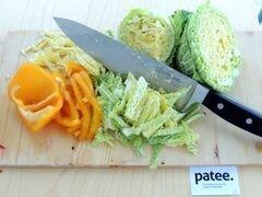 «Красный борщ с фасолью и савойской капустой» - приготовления блюда - шаг 10