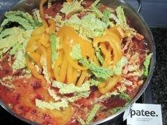 «Красный борщ с фасолью и савойской капустой» - приготовления блюда - шаг 11