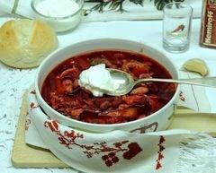 «Красный борщ с фасолью и савойской капустой» - приготовления блюда - шаг 13
