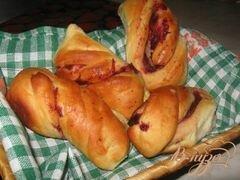 «Булочки с вишневой начинкой» - приготовления блюда - шаг 9