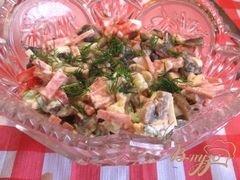 """«Салат из помидор и салями """"Охотничий""""» - приготовления блюда - шаг 4"""
