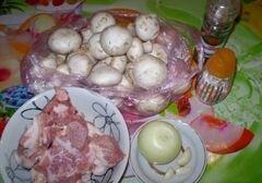 «Закуска грибная с мясом и соусом» - приготовления блюда - шаг 1