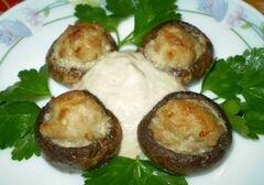 «Закуска грибная с мясом и соусом» - приготовления блюда - шаг 13