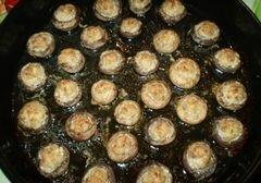 «Закуска грибная с мясом и соусом» - приготовления блюда - шаг 5