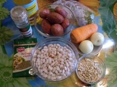 «Овсяный суп с фасолью» - приготовления блюда - шаг 1