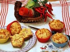 «Закусочные кексы с сыром и колбасным хлебом» - приготовления блюда - шаг 5