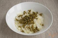 «Салат с горошком» - приготовления блюда - шаг 3