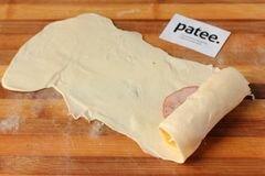 «Пирожки из слоёного теста с ветчиной и сыром» - приготовления блюда - шаг 6
