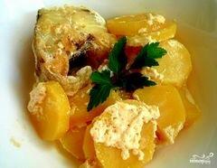 «Минтай в духовке с картофелем» - приготовления блюда - шаг 9
