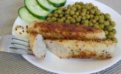 «Домашние куриные сосиски с перцем и горчицей» - приготовления блюда - шаг 10