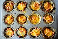 «Запеченный картофель с ветчиной и сыром» - приготовления блюда - шаг 17
