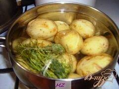 «Картофель по-деревенски» - приготовления блюда - шаг 1