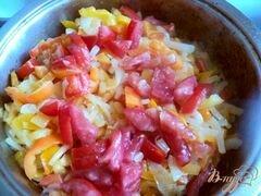 «Яичница с овощами» - приготовления блюда - шаг 4