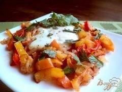 «Яичница с овощами» - приготовления блюда - шаг 6
