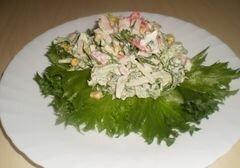 """«Салат с крабовыми палочками и листьями салата """"Фриллис""""» - приготовления блюда - шаг 6"""