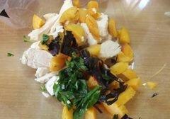 «Овощной салат с абрикосами» - приготовления блюда - шаг 3