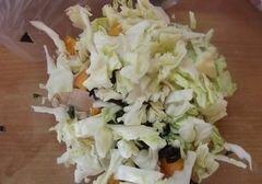 «Овощной салат с абрикосами» - приготовления блюда - шаг 4