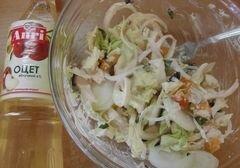 «Овощной салат с абрикосами» - приготовления блюда - шаг 7