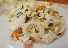 «Овощной салат с абрикосами» - приготовления блюда - шаг 8