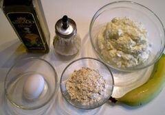 «Сырники без муки с ячменными пластивцами» - приготовления блюда - шаг 1