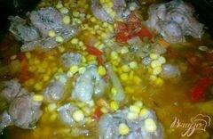 «Индейка с овощами» - приготовления блюда - шаг 4